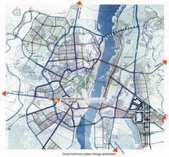 Транспортная схема Воронежа - увеличить